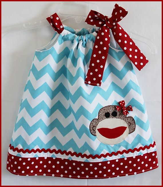 Super Cute Aqua Chevron and Red Polka dot by LilBitofWhimsyCoutur, $25.00