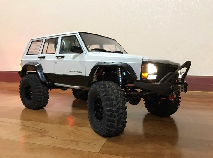 Scx10 Cherokee For Hard Body Off Road Bumper By H Cho On Off