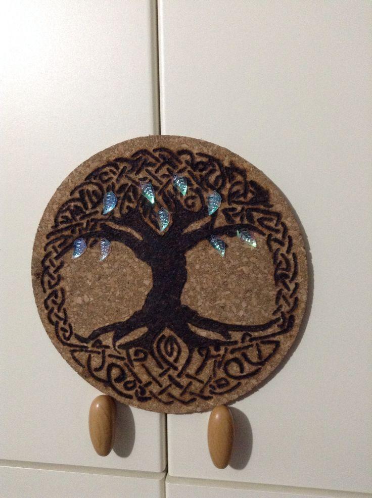 Pirografia albero celtico