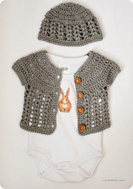 La Magia del Crochet: CARDIGANS PARA BEBÉS A CROCHET