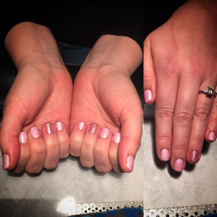 Clients pretty pink nails