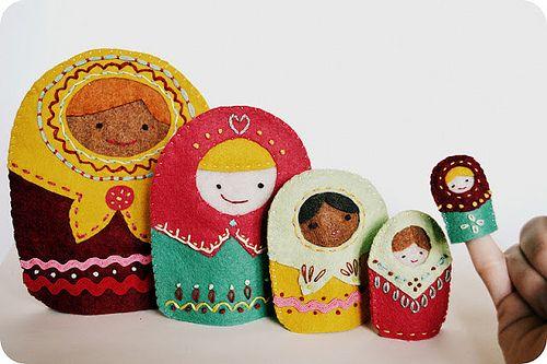 matryoshka finger puppets !