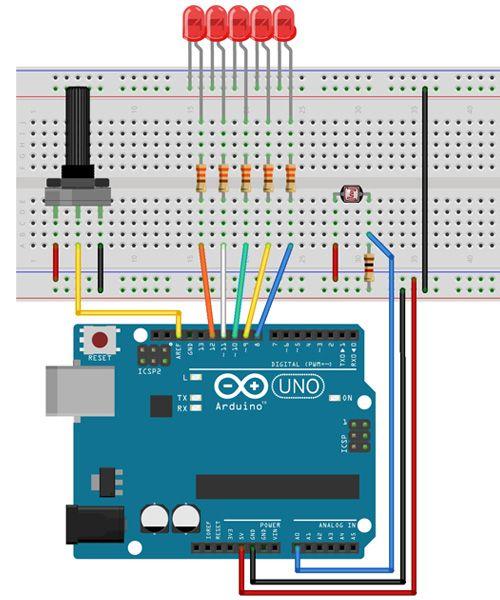 Tutorial Multilógica-Shop Arduino Sensor LDR. Este programa poderia ser usado em um sistema de iluminação com cinco linhas de luz que vão acendendo conforme o sol se põe, compensando progressivamente a deficiência de luz. #arduino #projetoarduino #tutorial #eletronica #educação