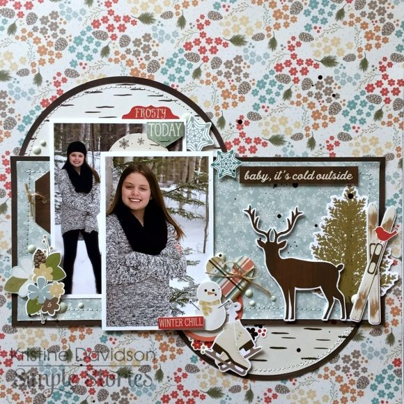 Layout from creative team member Kristine Davidson using our Winter Wonderland collection