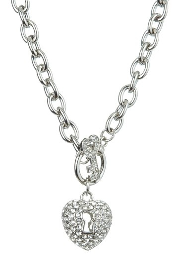 Heart Lock & Toggle Necklace