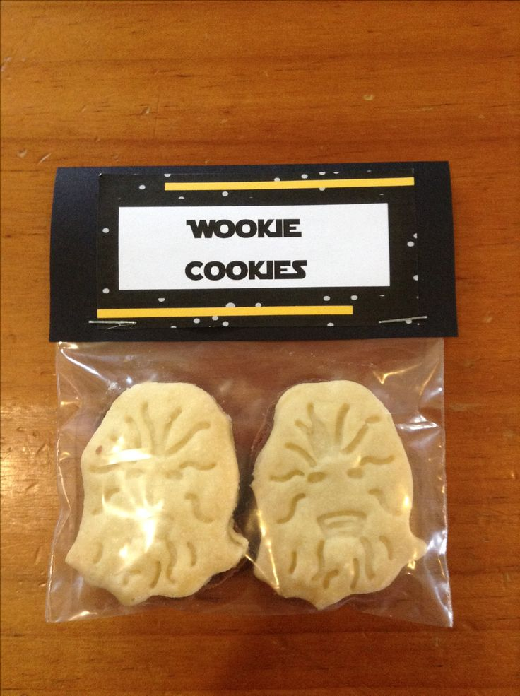 Wookie Cookies - these are a simple cookie recipe, stamped and cut with a Chewbucca cookie cutter.  I sourced the cutters from ebay.