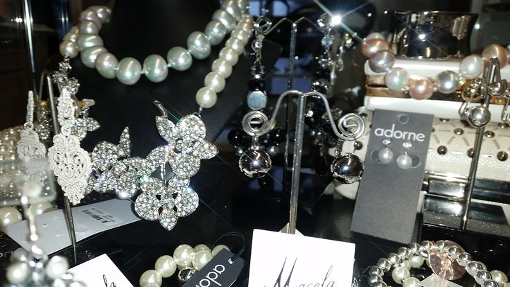 At Little Shop of Shoes we have plenty of jewelry, bling and pearls for all.