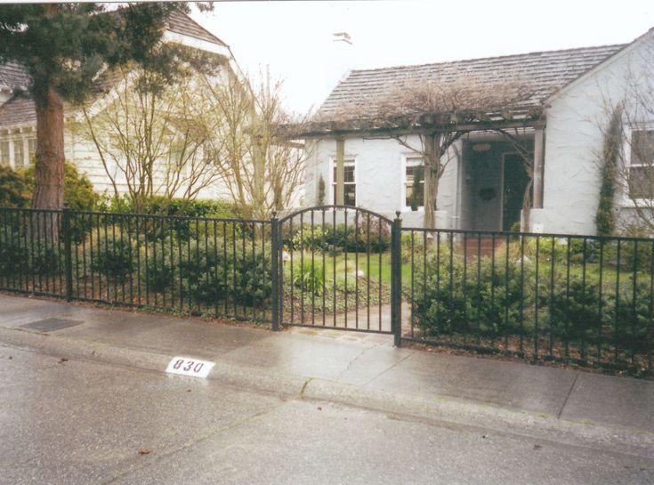 iron fence ideas. i love the idea of a wrought iron fence especially that gate ideas e