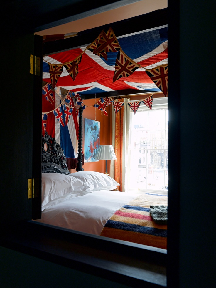 Union Jack bunting at The Zetter Townhouse  Bedroom. 245 best England Love  Bedroom Design Ideas   Furniture images on