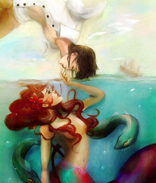 The Little Mermaid. Now I feel the need to pin all the little mermaid things to Hazel's board.