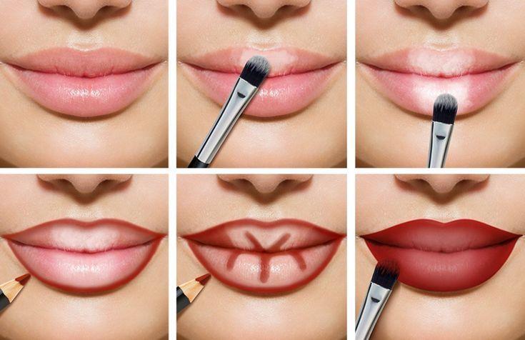 Lippen Make-up: Entdecken Sie unsere Tipps und Anleitungen in Bildern  #anleitun…