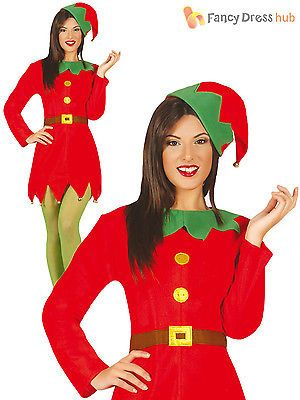 Ladies elf costume adults santas helper christmas #fancy #dress #womens xmas outf,  View more on the LINK: http://www.zeppy.io/product/gb/2/182339237283/