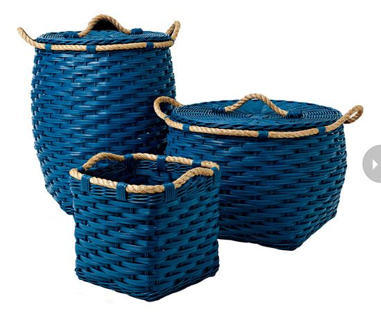 baskets | baskets use these beautiful blue baskets for laundry or as a handy ...