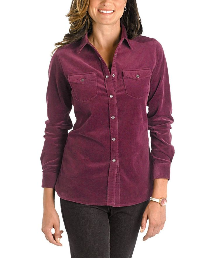 Another great find on #zulily! Fig Pendulum Corduroy Top by Woolrich® #zulilyfinds