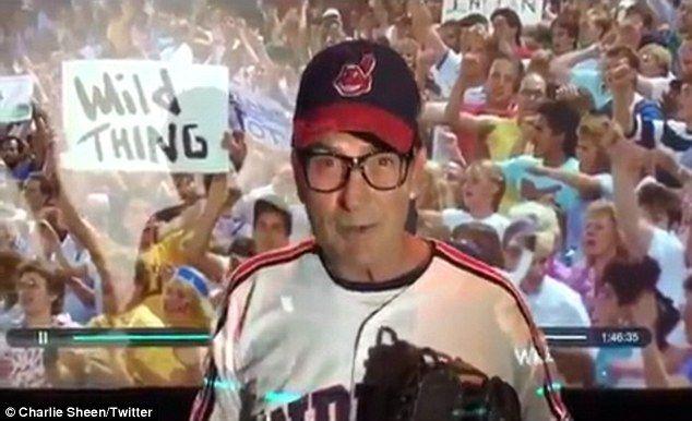 """Híres szerepe: A színész ábrázolt újonc indiánok dobó Ricky """"Wild Thing"""" Vaughn az 1989-es sport vígjáték"""