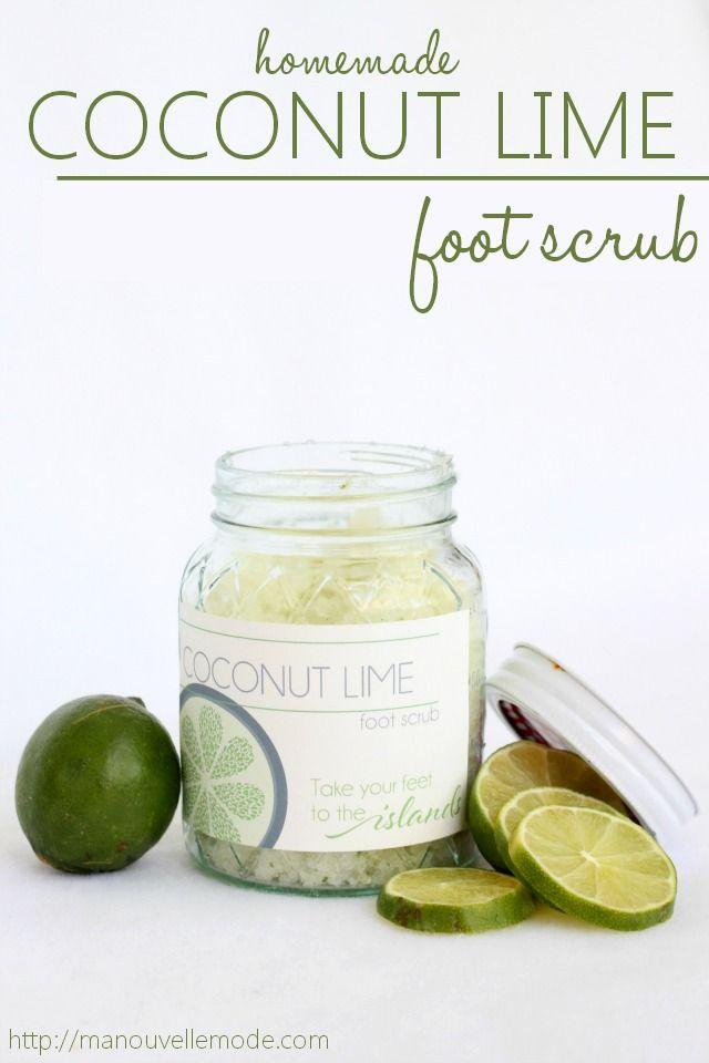 DIY Coconut Lime Foot Scrub | Ma Nouvelle ModeMa Nouvelle Mode