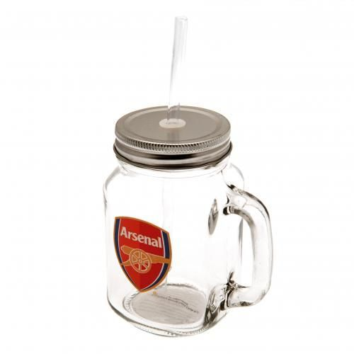 Novelty Arsenal FC Mason Jar complete with straw and featuring the Arsenal club crest. FREE DELIVERY on all of our gifts