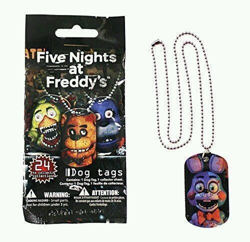 New FIVE NIGHTS At FREDDY'S Dog Tags Blind Bag Necklace Officially Licensed  #FiveNightsatFreddys