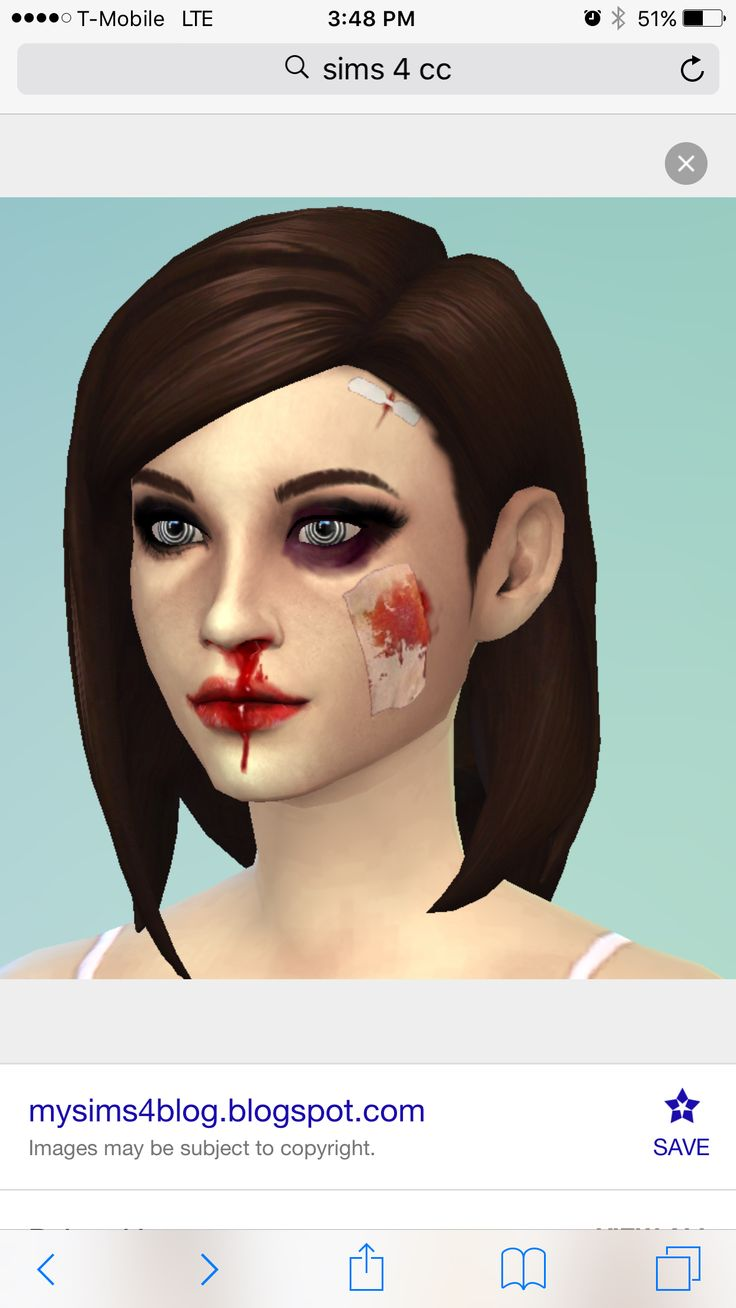 The sims 4 hair accessories - Scars On The Face Pulled Up From Google