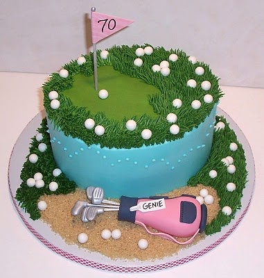 The cutest ever golf-themed cake!!