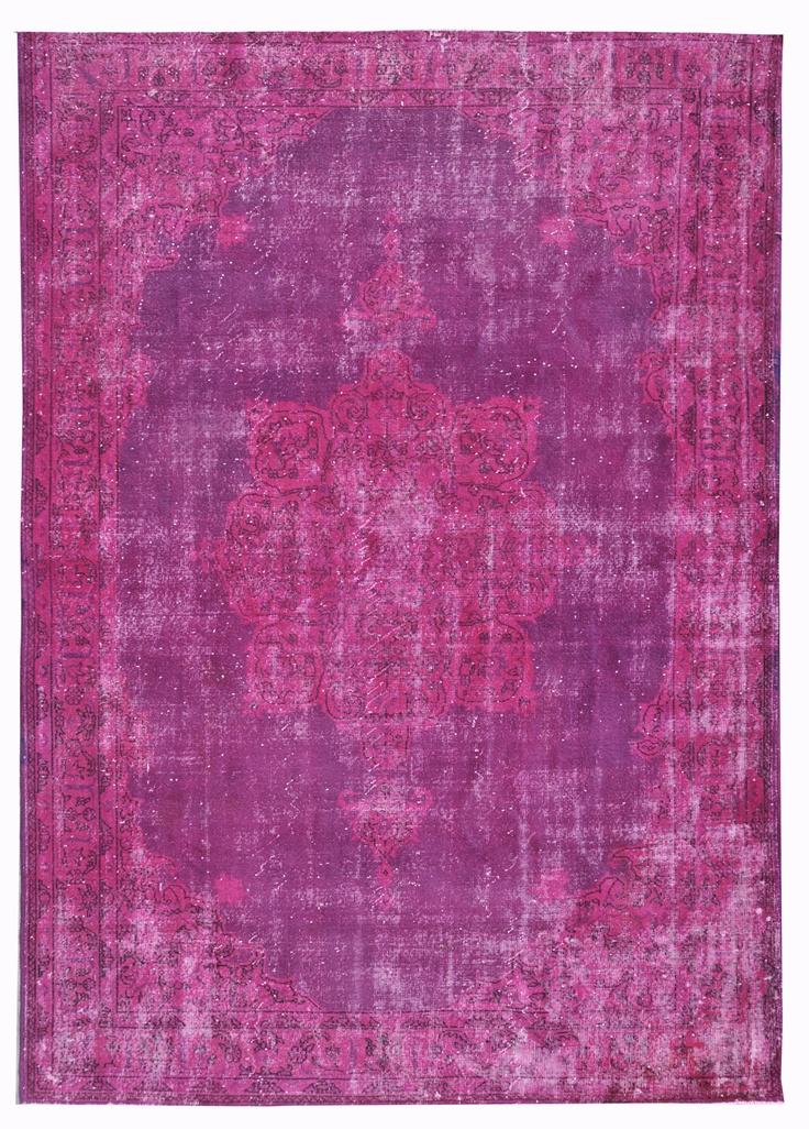 Vintage carpet Purple and pink www.vintagecarpets.com