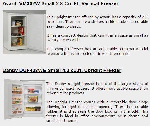 Small Upright Freezers
