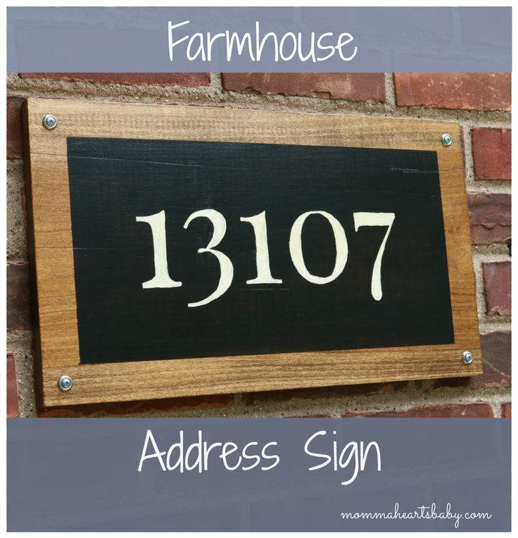 Add Curb Appeal And Create Your Own Farmhouse Address Sign