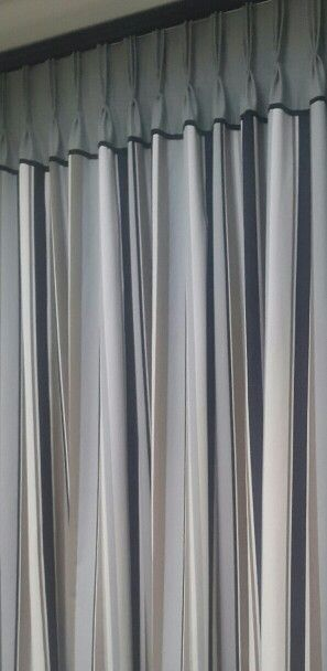 Hand stitched French Pleat heading Curtains. Two tone. Elegant. Inca Interiors