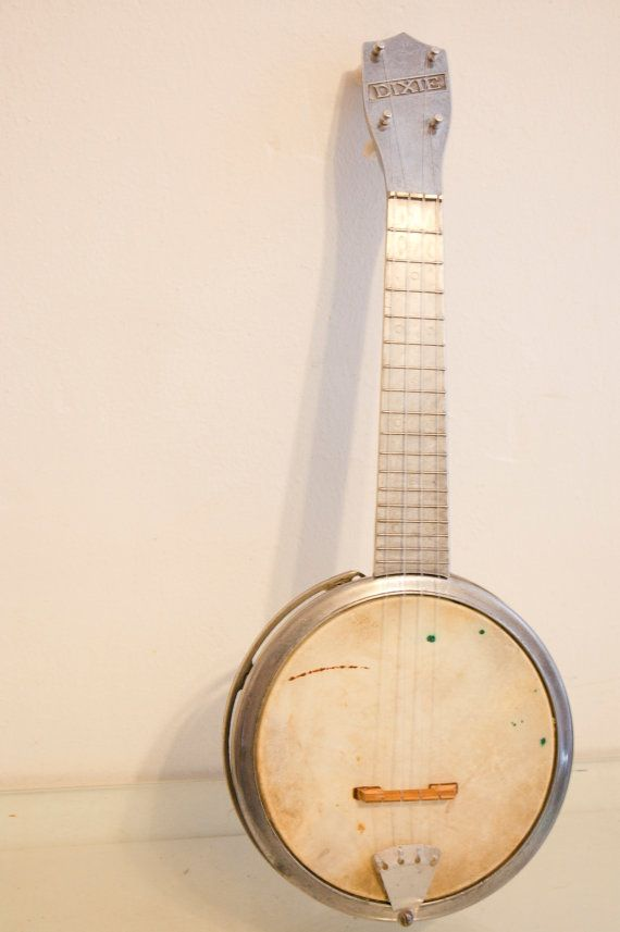 Vintage Machine Age Chrome Dixie Banjo Ukulele Uke. id kill to jam on this.