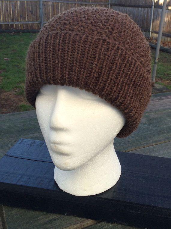 Men's Knit Beanie Men's Knit Hat  Wool Teen by WendysWonders127