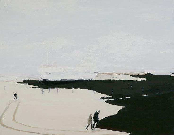 Navio na praia   Tatiana Blass 2012 Oli on canvas 26 x 44 cm  ( Ship on the beach   Tatiana Blass 2012 Oil on canvas 110 x 140 cm  )