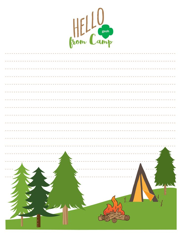 This summer camp stationery is perfect for sending letters back home or writing down stories to share with friends and family after camp!