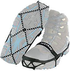 Yaktrax Pro Traction Cleats that fit over shoes and boots: Winter safety gear for hiking on snow and ice in cold weather