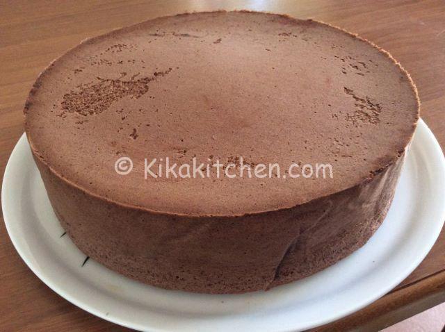 pan di spagna al cacao alto