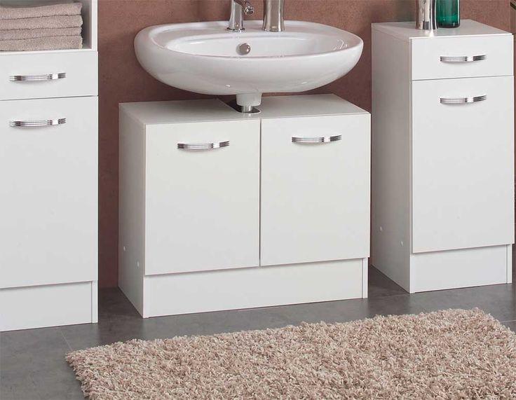 Die besten 25+ Waschbeckenunterschrank weiss Ideen auf Pinterest - badezimmerschrank mit waschbecken