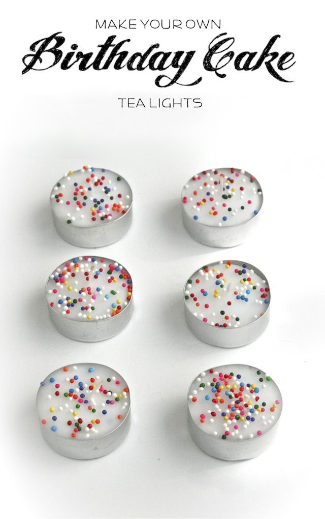 DIY Birthday Cake Tea Candles—Perfect For A Quickie Celebration!