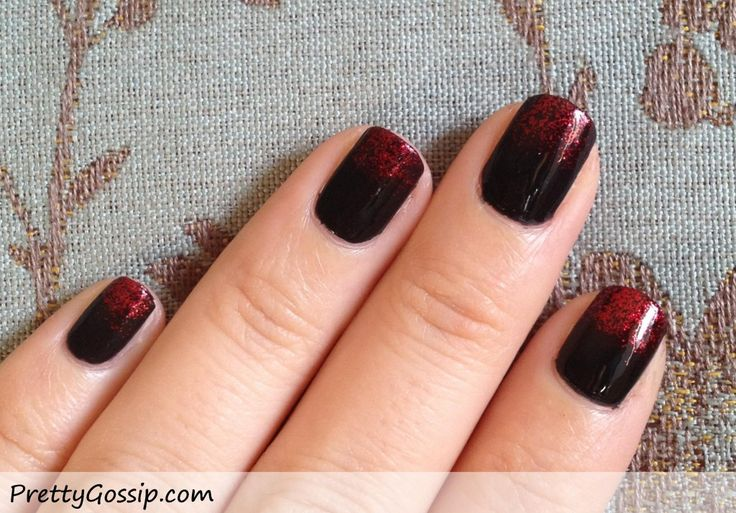 Black x Red Nails {Sponge Gradient Nail Tutorial} | Pretty Gossip