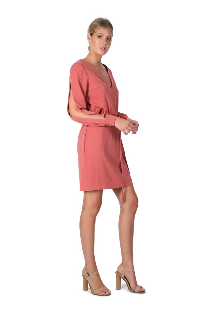 Cooper St - Lovine Slashed Dress- Faded Rose