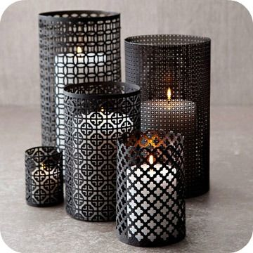 Candle screens....make from Hobby Lobby sheets