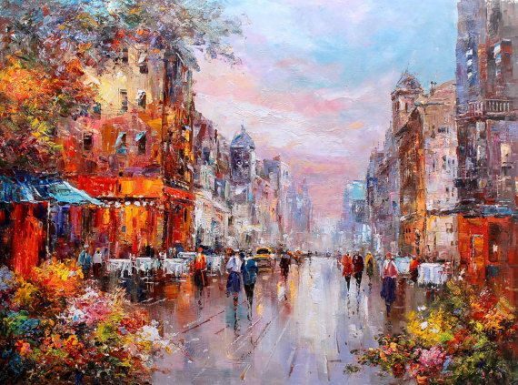 36x48  Paris Flower Market  34 by LuigiPaulini on Etsy
