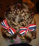4th of july infant hair bows