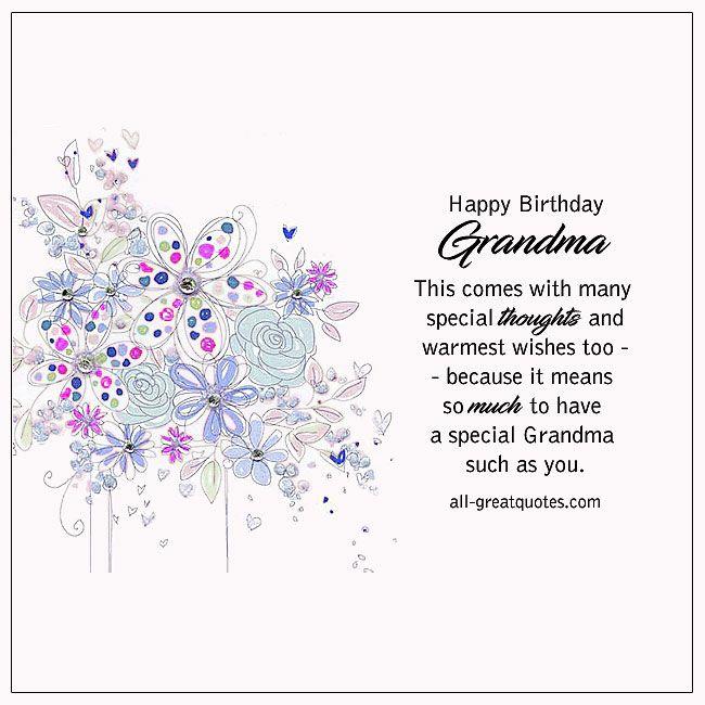 Happy Birthday Grandma With Images Happy Birthday Grandma