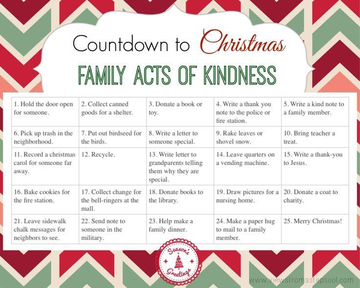 Diy Kindness Calendar : Diy advent calendar with free printable acts of kindness