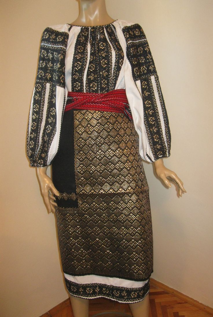 Vintage black-golden Romanian traditional costume .  Available at www.greatblouses.com