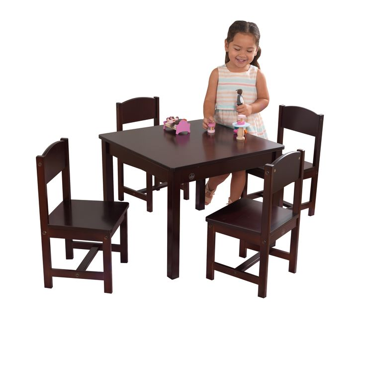 Home toddler table table chair sets farmhouse table