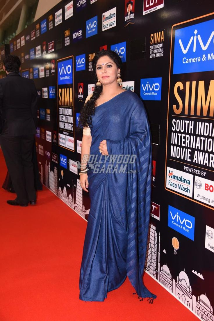 Asha Sarath graces the red carpet at SIIMA Awards cremony day 2