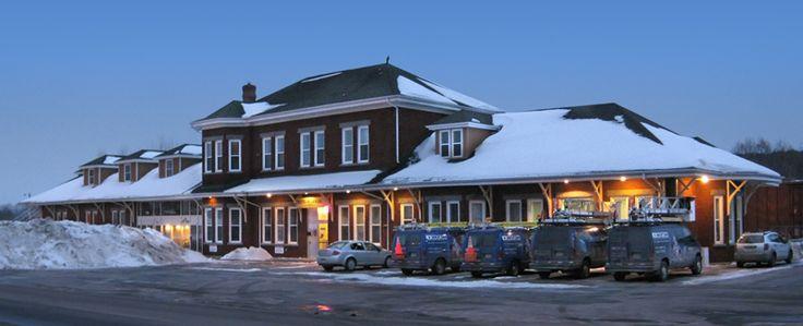 Vieille gare de Richmond Qc ... Maintenant un Restaurant