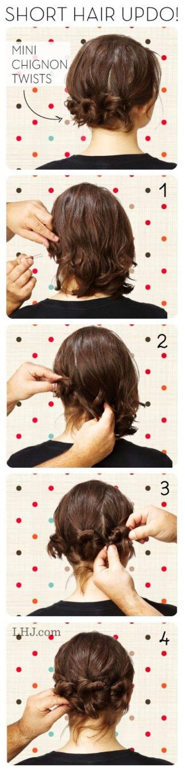 Easyhairstylesforwomenwithshorthair short hair braids