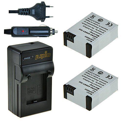 Features  Cuenta con una capacidad de 1200 mAh y 3.7 V de potencia de salida y 4 W cada hora Se pueden cargar o descargar en cualquier momento sin desarrollar efectos de memoria Batería recargable de Litio Ion Equivalente a Kit 2 x AHDBT-302 y cargador para GoPro Hero 3+   http://accesoriosdegopro.com/producto/jupio-cgp0010-bateria-para-camara-digital-equivalente-a-gopro-2x-battery-ahdbt-302-charger-1200-mah/