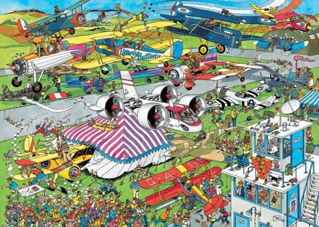 Jan van Haasteren: De Vliegshow (1500 stukjes)